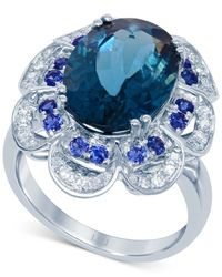 Lali Jewels - Multi-stone (7-1/5 Ct. T.w.) And Diamond (1/4 Ct. T.w.) Ring In 14k White Gold - Lyst