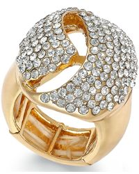 INC International Concepts | Metallic Rose Gold-tone Crystal Dome Stretch Ring, Only At Macy's | Lyst