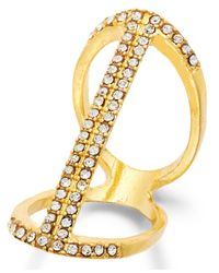 INC International Concepts | Metallic Silver-tone Crystal Pave Bar Ring, Only At Macy's | Lyst