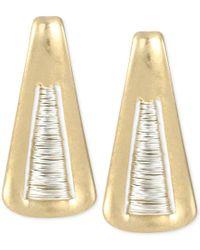 Robert Lee Morris   Metallic Two-tone Triangle Drop Earrings   Lyst