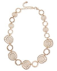Lonna & Lilly - Metallic Gold-tone Coin Collar Necklace - Lyst