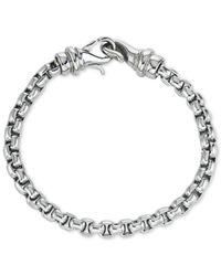 Macy's | Metallic Linked Bracelet In Stainless Steel | Lyst