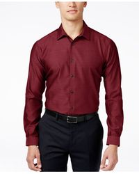 INC International Concepts | Red Men's Blake Long-sleeve Non-iron Shirt, Only At Macy's for Men | Lyst