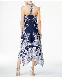 INC International Concepts - Multicolor Petite Printed Handkerchief-hem Maxi Dress - Lyst