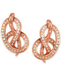 Le Vian - Multicolor Vanilla Diamond Knot Stud Earrings (1/3 Ct. T.w.) In 14k Rose Gold - Lyst