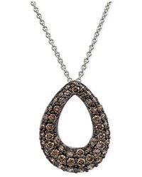 Le Vian - Diamond Teardrop Pendant Necklace (1 Ct. T.w.) In 14k White Gold - Lyst