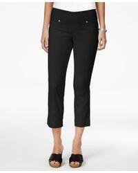 Style & Co. | Black Pull-on Capri Jeans, Only At Macy's | Lyst