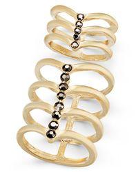 INC International Concepts - Metallic Gold-tone 2-pc. Set Stone Multi-row Rings - Lyst