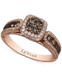 Le Vian | Metallic Chocolatier Chocolate And White Diamond (1-3/8 Ct. T.w.) Ring In 14k Rose Gold | Lyst