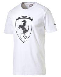 PUMA - White Men's Ferrari Big Shield T-shirt for Men - Lyst