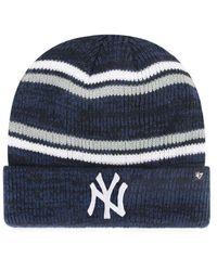 47 Brand Blue New York Yankees Marled Stripe Cuff Knit for men