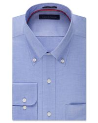 Tommy Hilfiger | Blue Men's Classic-fit Non-iron Solid Dress Shirt for Men | Lyst