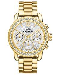 COACH | Metallic Women's Chronograph Legacy Sport Gold-tone Stainless Steel Bracelet Watch 36mm 14502370 | Lyst