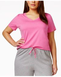 Hue | Pink Plus Size V-neck Pajama Top | Lyst