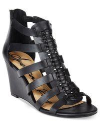 American Rag - Orange Amelia Woven Wedge Sandals - Lyst