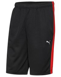 "PUMA | Black Men's Shorts Form Stripe 10"" Shorts for Men | Lyst"