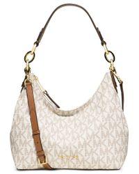319d2440eafd Lyst - Michael Kors Michael Isabella Medium Convertible Shoulder Bag ...