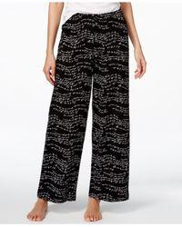 Hue | Black Script-print Pajama Pants | Lyst