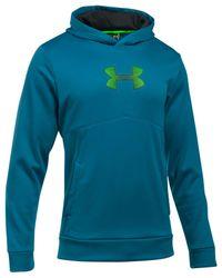 Under Armour | Blue Ua Storm Armour Fleece Logo Hoodie for Men | Lyst