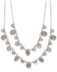 Givenchy - Metallic Multi-crystal Layer Necklace - Lyst