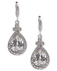 Givenchy | Metallic Teardrop Pave Crystal Drop Earrings | Lyst
