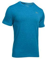 Under Armour   Blue Men's Streaker Threadborne V-neck T-shirt for Men   Lyst