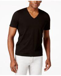 INC International Concepts | Black Men's V-neck Polished T-shirt, Only At Macy's for Men | Lyst