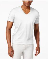 INC International Concepts | White Men's V-neck Polished T-shirt, Only At Macy's for Men | Lyst