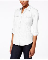 Style & Co. | White Utility Shirt, Only At Macy's | Lyst