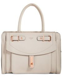 Guess | Natural Kingsley Small Satchel | Lyst