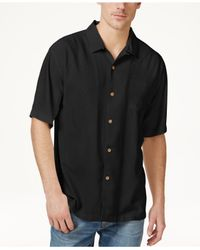 Tommy Bahama | Black Men's Tiki Palms Silk Short-sleeve Shirt, A Macy's Exclusive Style for Men | Lyst