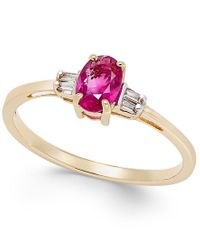 Macy's | Metallic Ruby (5/8 Ct. T.w.) And Diamond Accent Ring In 14k Gold | Lyst