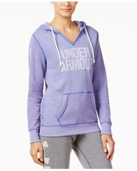 Under Armour | Purple Favorite Fleece Logo Pullover Hoodie | Lyst