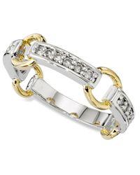 Charter Club - Metallic Ring, Cubic Zirconia Circle Band - Lyst