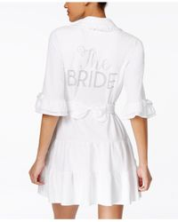 "Betsey Johnson | White ""the Bride"" Terry Robe 