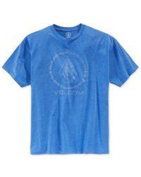 Volcom | Blue Men's Corpo Push Graphic-print Logo T-shirt for Men | Lyst