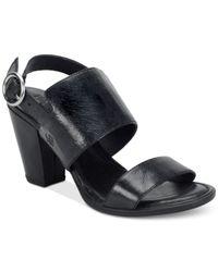 Born - Black Cindie Sandals - Lyst