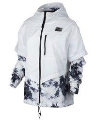 Nike - White International Printed Windbreaker - Lyst
