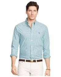 Polo Ralph Lauren   Blue Gingham Cotton Twill Shirt for Men   Lyst