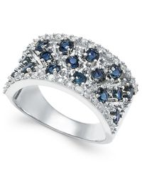 Macy's   Metallic Sapphire (1-3/4 Ct. T.w.) And Diamond (1/3 Ct. T.w.) Band In 14k White Gold   Lyst