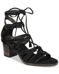 Frye | Black Women's Brielle Gladiator Lace-up Sandals | Lyst