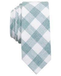 Original Penguin | Blue Original Men's Park Checked Skinny Tie for Men | Lyst