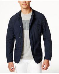 Armani Jeans - Blue Men's Camp-collar Jacket for Men - Lyst