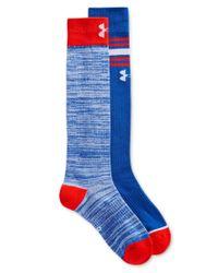 Under Armour - Blue Women's Performance Knee High Socks 2 Pack - Lyst