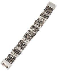 Kenneth Cole | Silver-tone Metallic Beaded Bracelet | Lyst