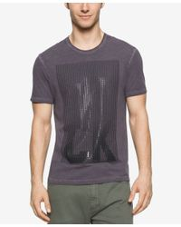 Calvin Klein Jeans - Black Men's Dot Gel Crew Neck T-shirt for Men - Lyst