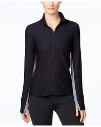 Calvin Klein | Black Performance Honeycomb Zip-front Jacket | Lyst