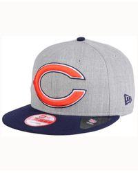 KTZ - Blue Chicago Bears Heather Grand 9fifty Snapback Cap for Men - Lyst