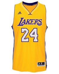 Adidas Metallic Kobe Bryant Los Angeles Lakers Swingman Jersey for men