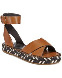 Circus by Sam Edelman - Brown Amber Flat Sandals - Lyst
